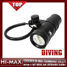 Plongée sous-marine Eclairage portable à l'eau sous-marine rechargeable