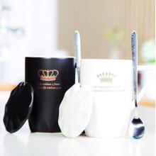Copas ecológicas de la taza de cerámica negra mate de 400 ml