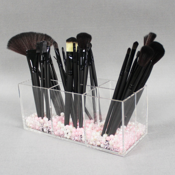 Acrilico all'ingrosso Brush Brush Organizer