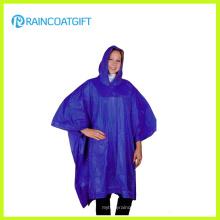 Wiederverwendbare Adult Hooded PVC Ponchos (RVC-158)