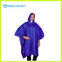 Reusable Adult Hooded PVC Ponchos (RVC-158)
