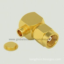 Coaxial RF Connector with Female SMC Contact R/A Plug for 085 Semi-rigid/RG-405