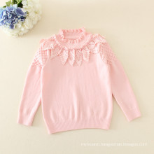 baby girls pure cotton sweater/kids sweater 2 color white and pink