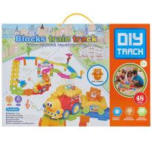 Boy regalo plástico bloquea juguetes de juguete de tren de juguete educativo