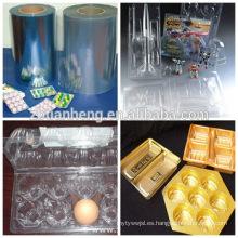 Alimentos Blister Embalaje Rígido Transparente Thermoforming Plástico PVC
