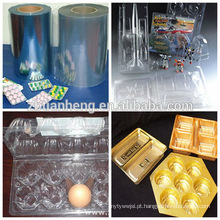 Alimentos Blister Embalagem Rigid Clear Thermoforming Plastic Sheet PVC