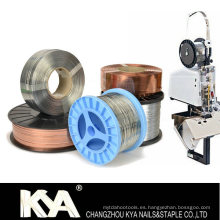 103023G25 Alambre de costura galvanizado para hacer grapas, clip de papel