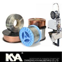 103023G25 Fio de costura galvanizado para fazer grampos, grampo de papel