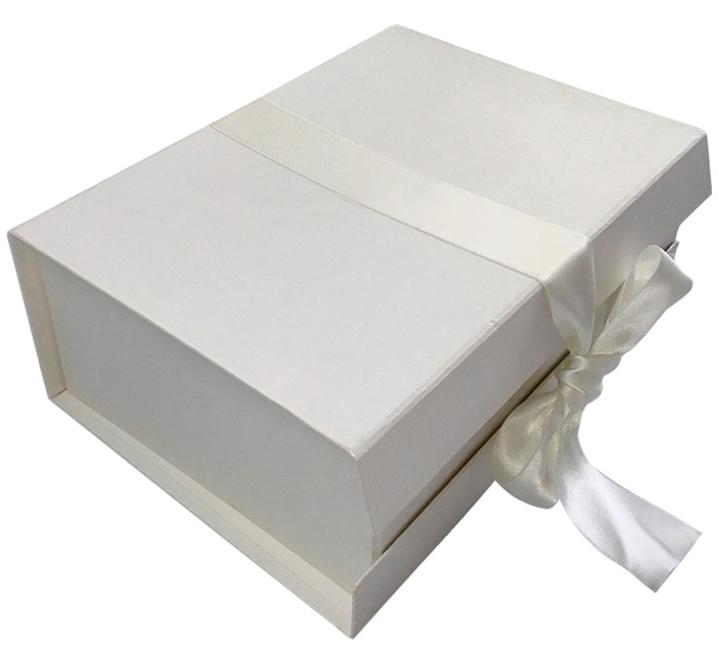 White Ribbon Gift Box