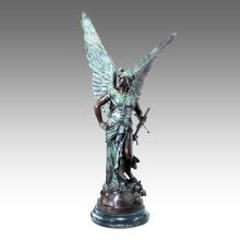 Grande Figure Statue Mythe Mars Bronze Sculpture Tpls-032