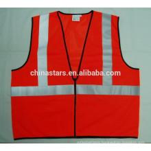 100% polyester ANSI mesh glow wear safety vest