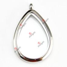 Colgante del medallón de la lágrima del acero inoxidable para la venta al por mayor