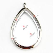 Stainless Steel Teardrop Locket Pendant for Wholesale