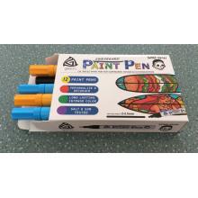 Marqueur en plastique réutilisé de peinture d'huile de baril de pp 12 PCS dans la boîte
