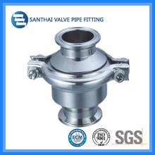 Material de aço inoxidável sanitário válvula de retenção forjada