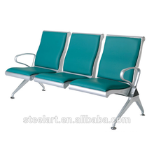 Steel 3 seater airport public chair for waiting area