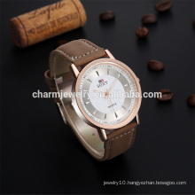 Latest Fashion Vintage Simple Quartz Leather Strap Wrist Watch SOXY012