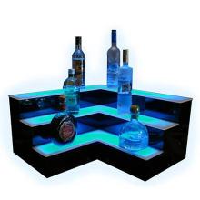 V-Shape Illuminated Acrylic Alcohol Display Shelf