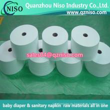 Billiges kundenspezifisches Es-Nonwoven-Gewebe für Baby-Windel 100% Es Heißluft durch nichtgewebtes Gewebe-nicht Gewebe