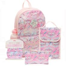 Promotional Unicorn Students Girls Backpack School Bags Set Kids