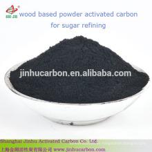Polvo de carbón activado a base de madera para la industria azucarera