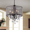 Modern square bedroom chandelier pendant light silver crystal home lighting
