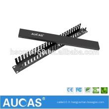 """AMP 24 PORT IDC gestion des câbles métalliques / 1U 19 """"ABS Gestion des câbles en plastique"""