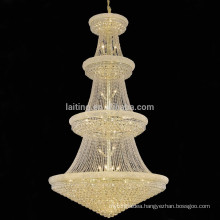 Empire long lobby chandelier, hotel crystal hanging supper large lamp-62038