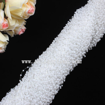 Lots 1.3M Long Plastic Pearl Beaded Garland with 3MM white Pearl Beads