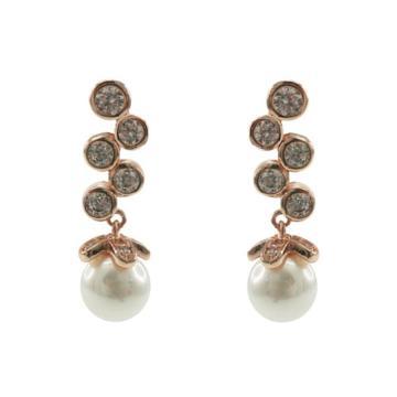 Boucles d'oreilles en perles de verre en argent 925