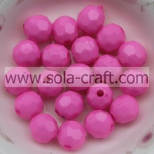 Fashion Round Spacers Acrylic Beads 32 Faceted For Jewelry Decorations 4MM Rose Agate Ball Beads