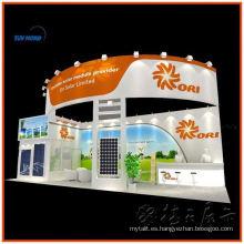 Stand de exhibición comercial al aire libre e interior personalizado