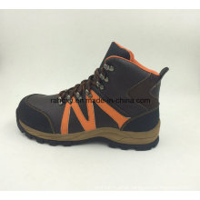 Sports Style Split Embossed Leather Safety Shoes Outdoor Shoes (16053)