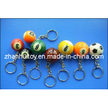 Plastic Billiards Key Chain