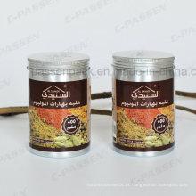 Lata de alumínio do chá 400ml com impressão do Silkscreen na tampa