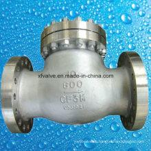 Válvula de retención RF de extremo de brida CF3m de acero inoxidable fundido de 600 libras