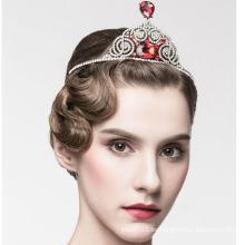 Belleza Reina Diamante Corona Corona 14k oro blanco Diamante Corona Tiaras