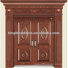 Горячий дизайн меди двойной вход дверь KKDFB-8003