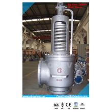 Válvula de segurança de alívio de pressão NPT / RF da caldeira (250 mm WCB / CF8 / 304)