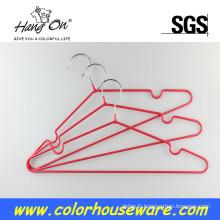 Cintre de PVC métal coloré pour vêtements