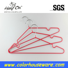 Cabide de PVC Metal colorido para roupas