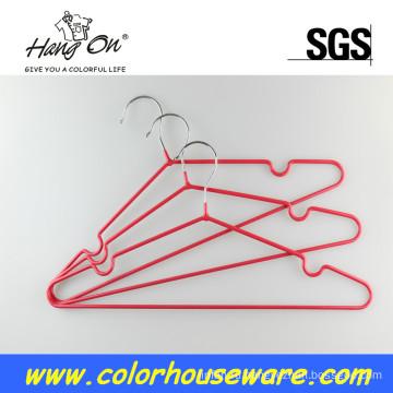 Красочные ПВХ металлическая вешалка для одежды