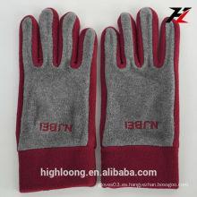 Yangzhou Highloong 2015 al por mayor guantes de lana polar, guantes de vellón duradero