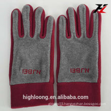 Yangzhou Highloong 2015 wholesale polar fleece gloves, durable fleece gloves