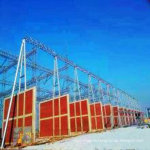 Arquitectura de subestación tipo tubería de acero de 500 kV