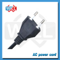 220v Power cord Cable with 2 Prong AC Male Plug to Electric Socket