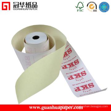 Rouleau de papier autocopié personnalisé de haute qualité