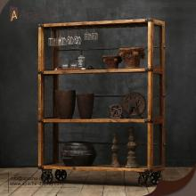 OEM China for Multi-Material Displays Vintage Industrial Bookshelf Wooden Stroage Furniture supply to Bolivia Exporter