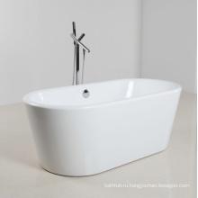 Белая акриловая мини-отдельностоящая ванна