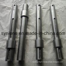 Arbre en acier de précision avec des pièces de usinage CNC